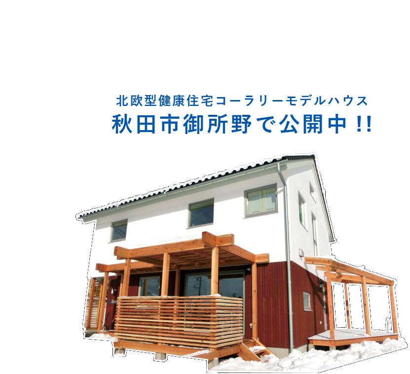 北欧型健康住宅 コーラリー モデルハウス 秋田市御所野で公開中!!